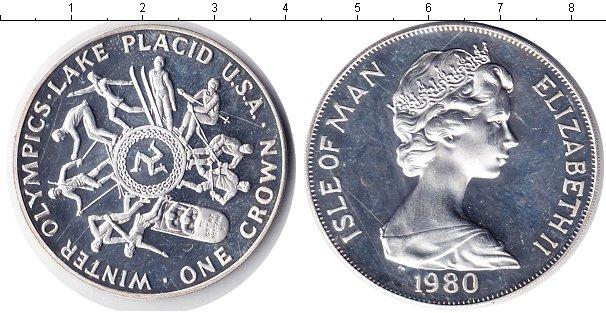 Картинка Монеты Остров Мэн 1 крона Серебро 1980
