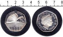 Изображение Монеты Великобритания 50 пенсов 2000 Серебро UNC- Елизавета II.
