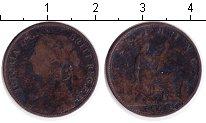 Изображение Монеты Великобритания 1 фартинг 1869 Медь VF