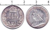 Изображение Монеты Великобритания 6 пенсов 1893 Серебро XF Виктория