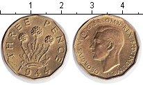 Изображение Монеты Великобритания 3 пенса 1944  XF Георг VI