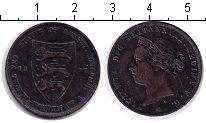 Изображение Монеты Остров Джерси 1/24 шиллинга 1877 Медь  Виктория