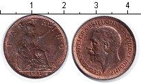 Изображение Монеты Великобритания 1 фартинг 1931 Медь UNC Георг V