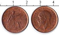Изображение Монеты Великобритания 1 фартинг 1928 Медь XF Георг V