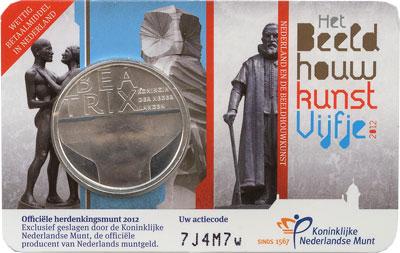 Изображение Монеты Нидерланды Беатрикс 2012 Посеребрение UNC Подарочная монета по