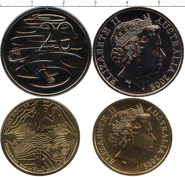 Картинка Подарочные монеты Австралия Международный год планеты Земля  2008