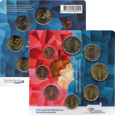 Изображение Подарочные монеты Нидерланды Евронабор 2014 2014  UNC В наборе 8 монет ном