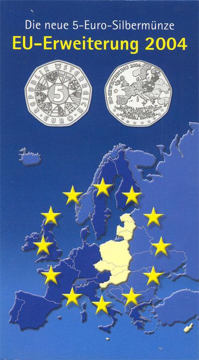 Изображение Подарочные монеты Австрия Евросоюз 2004 2004 Серебро UNC Подарочная монета по