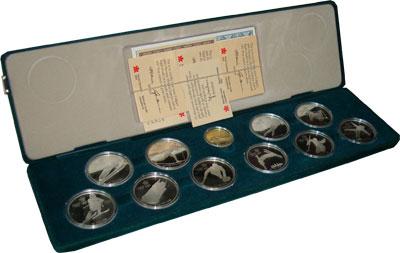 Изображение Подарочные наборы Канада Олимпийские игры в Калгари 1988 года 1986 Серебро Proof