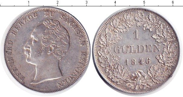 Картинка Монеты Саксен-Майнинген 1 гульден Серебро 1846
