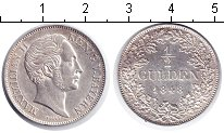 Изображение Монеты Германия Бавария 1/2 гульдена 1848 Серебро XF