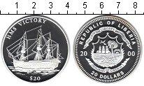 Изображение Монеты Либерия 20 долларов 2000 Серебро Proof- парусное судно