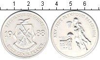Изображение Монеты Гвинея 200 франков 1988 Серебро UNC XXV летние Олимпийск