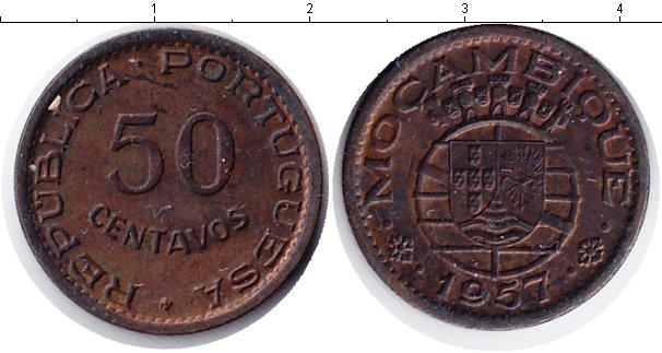 Картинка Монеты Мозамбик 50 сентаво Медь 1957
