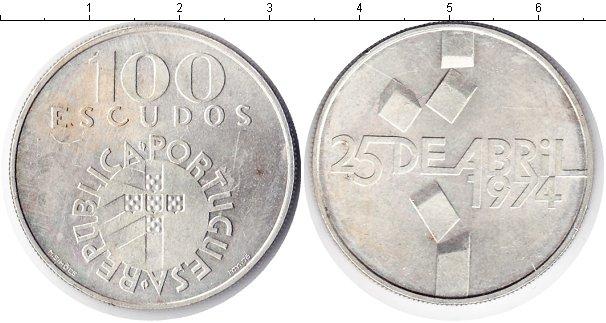 Картинка Монеты Португалия 100 эскудо  1974