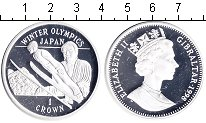 Изображение Монеты Гибралтар 1 крона 1998 Серебро Proof-