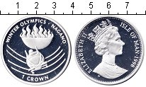 Монета Остров Мэн 1 крона Серебро 1998 Proof-
