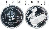 Изображение Монеты Франция 100 франков 1990 Серебро Proof- Альбертвиль 92
