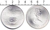 Изображение Монеты Канада 5 долларов 1976 Серебро UNC Олимпиада-1976. Монр