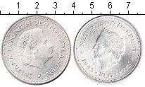 Изображение Монеты Нидерланды 10 гульденов 1970 Серебро UNC-