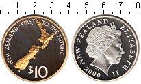 Изображение Монеты Новая Зеландия 10 долларов 2000 Серебро Proof-