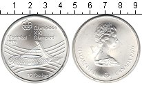 Изображение Монеты Канада 10 долларов 1976 Серебро UNC- XXI Олимпиада