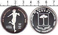 Изображение Монеты Экваториальная Гвинея 7000 франков 1992 Серебро Proof- Катрин Краббе