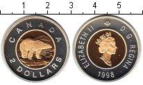 Изображение Монеты Канада 2 доллара 1998 Биметалл Proof- Елизавета II. Белый