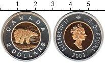 Изображение Монеты Канада 2 доллара 2003 Биметалл Proof- Елизавета II. Белый
