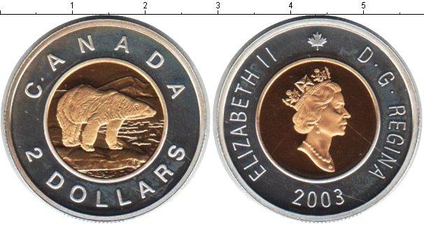 Картинка Монеты Канада 2 доллара Биметалл 2003
