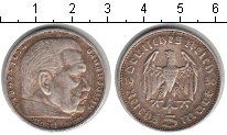 Изображение Монеты Третий Рейх 5 марок 1936 Серебро XF J. Пауль фон Гинденб