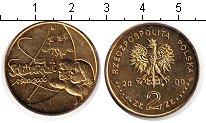 Изображение Мелочь Польша 2 злотых 2000  UNC- `20-летие профсоюза