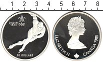 Изображение Монеты Канада 20 долларов 1985 Серебро Proof Олимпиада-1988 в Кал