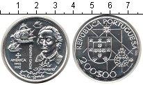 Изображение Монеты Португалия 200 эскудо 1992 Серебро UNC Новый Свет