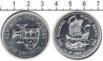 Изображение Монеты Португалия 100 эскудо 1989 Серебро UNC Открытие Мадейры