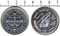 Изображение Монеты Португалия 100 эскудо 1987 Серебро UNC Нуну Триштан