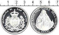 Изображение Монеты Сан-Марино 10000 лир 2000 Серебро Proof