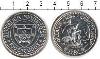 Изображение Монеты Португалия 100 эскудо 1987 Серебро UNC Жил Эанеш