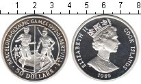 Изображение Монеты Острова Кука 50 долларов 1989 Серебро Proof- Олимпиада. Берселона