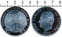 Изображение Монеты Испания 10 евро 2002 Серебро Proof Председательство Исп