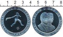 Изображение Монеты Испания 2000 песет 1990 Серебро Proof-
