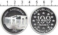 Изображение Монеты Франция 100 франков 1996 Серебро Proof- Амстердам