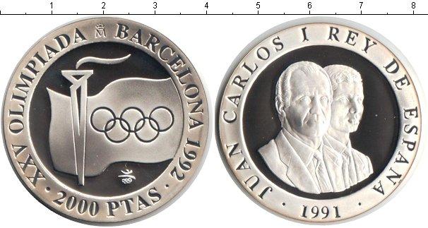 Картинка Монеты Испания 2.000 песет Серебро 1991