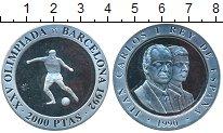 Изображение Монеты Испания 2.000 песет 1990 Серебро Proof- XXV Олимпиада. Барсе