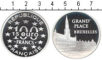 Изображение Монеты Франция 100 франков 1996 Серебро Proof- Брюселль