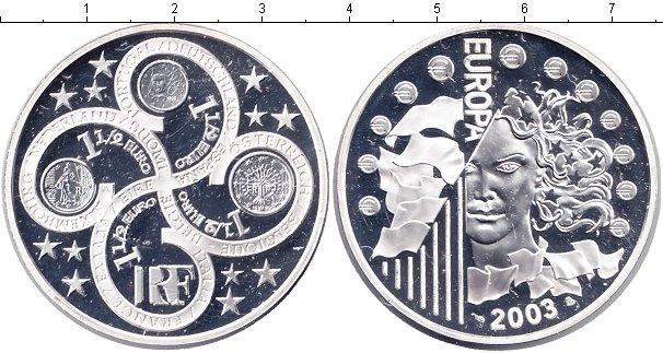 Картинка Монеты Франция 1 1/2 евро Серебро 2003