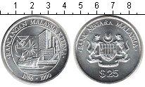 Изображение Монеты Малайзия 25 рингит 1990 Серебро UNC 5-й малазийский пяти