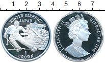 Изображение Монеты Гибралтар 1 крона 1998 Серебро Proof Зимние Олимпийские и