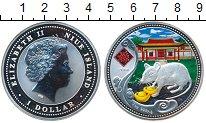 Изображение Монеты Ниуэ 1 доллар 2008 Серебро Proof- Год Крысы