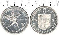 Изображение Мелочь Великобритания Гернси 25 пенсов 1972 Серебро Proof-
